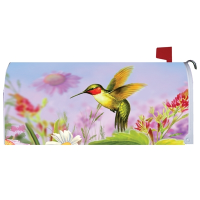 Hummingbird Coneflower Mailbox Cover