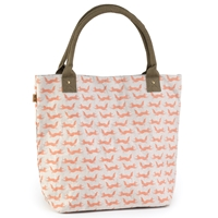 Fox Print Paper Craft Tote Bag