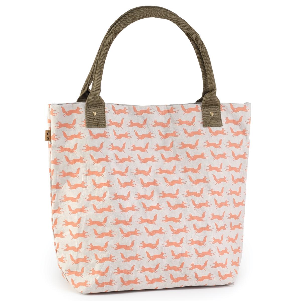 Fox Print Paper Craft Tote Bag