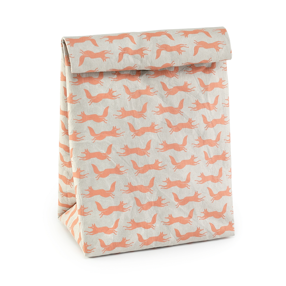 Fox Print Paper Craft Lunch Bag