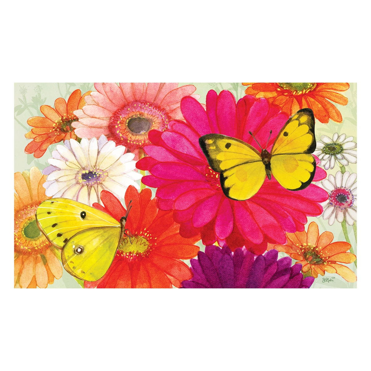 Gerberas and Butterflies Mat