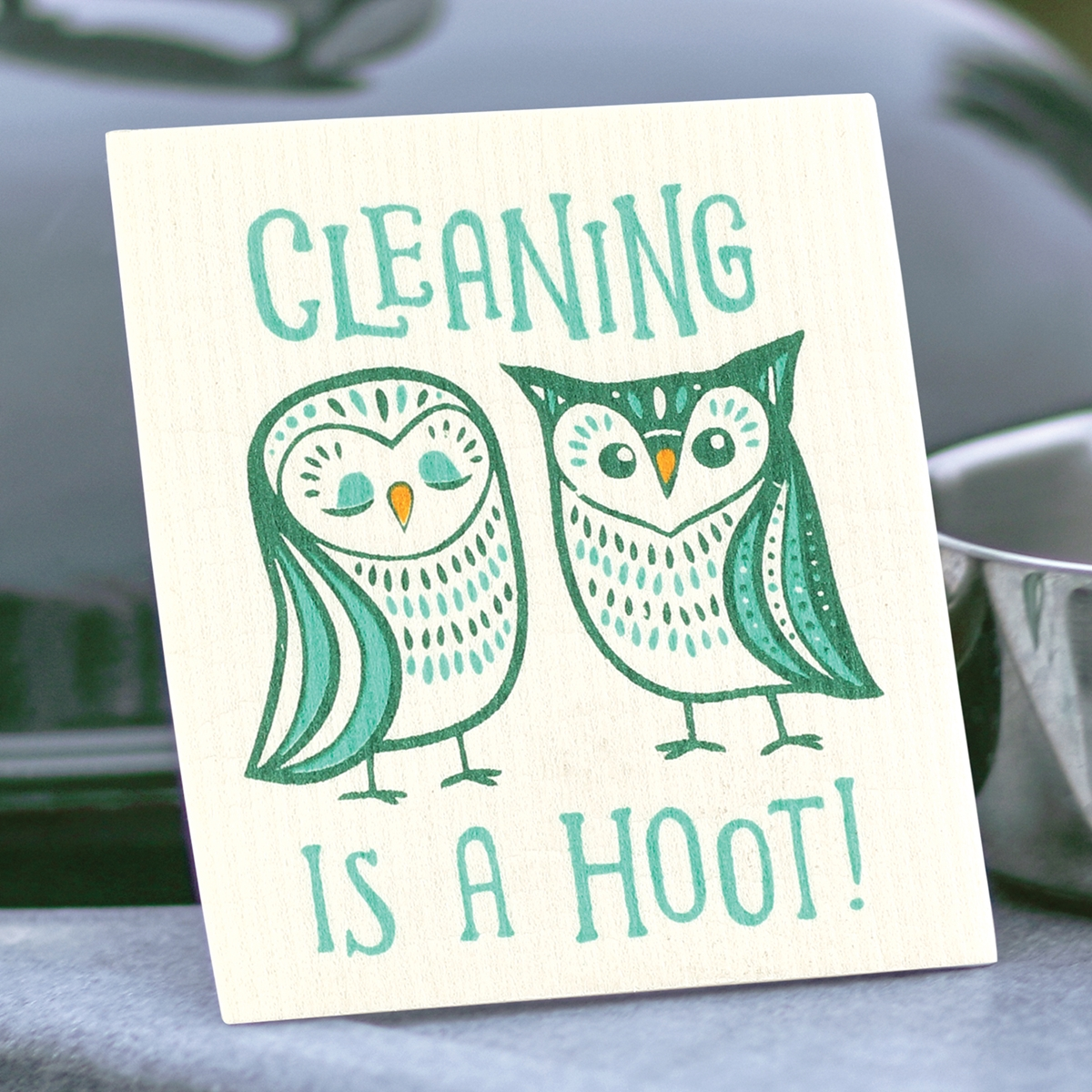 Cleaning is a Hoot Swedish Dish Cloth