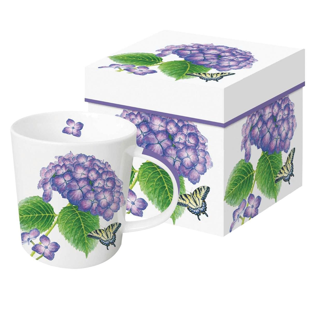 Hydrangeas and Butterfly Mug
