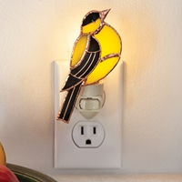 Goldfinch Stained Glass Nightlight