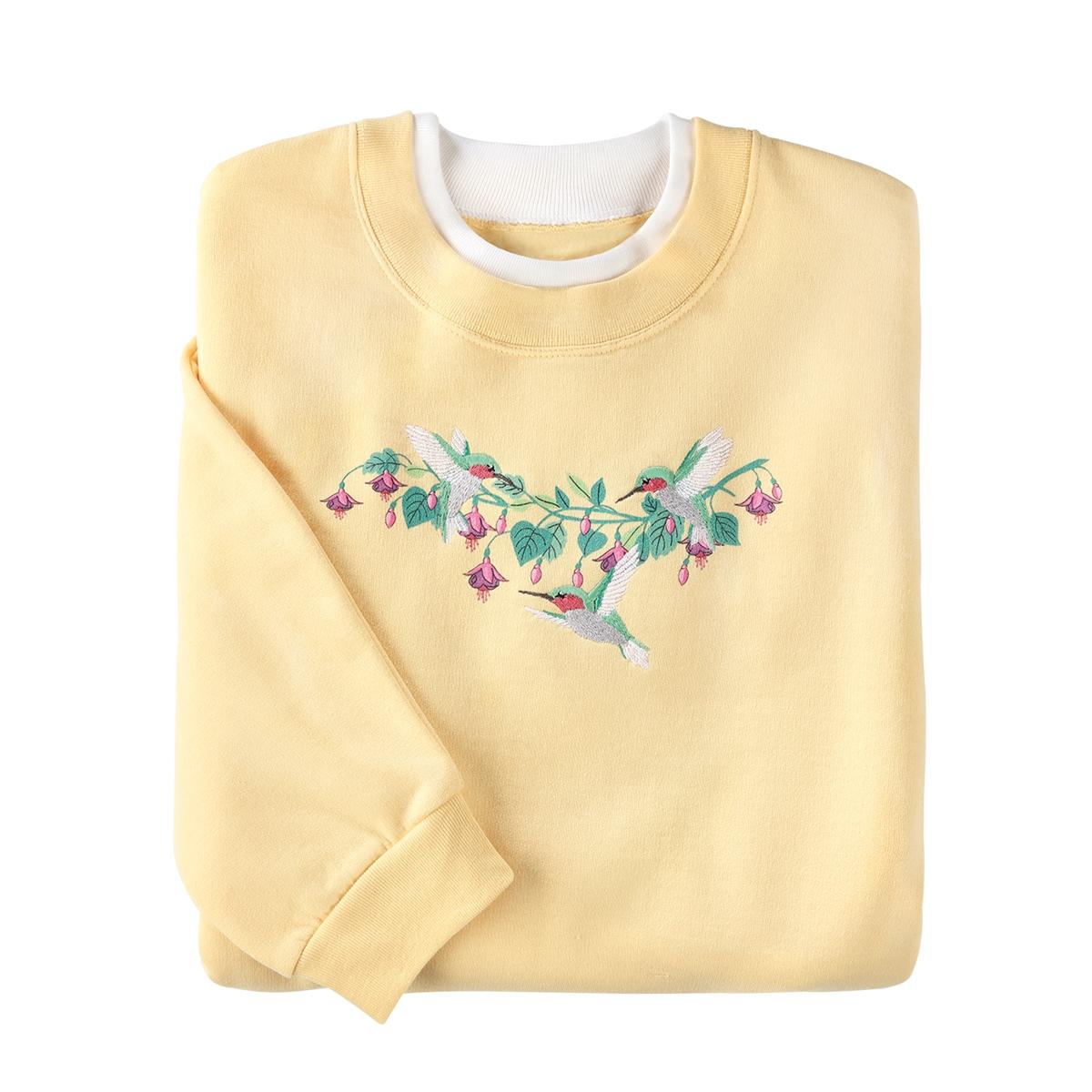 Playful Hummingbirds Pullover