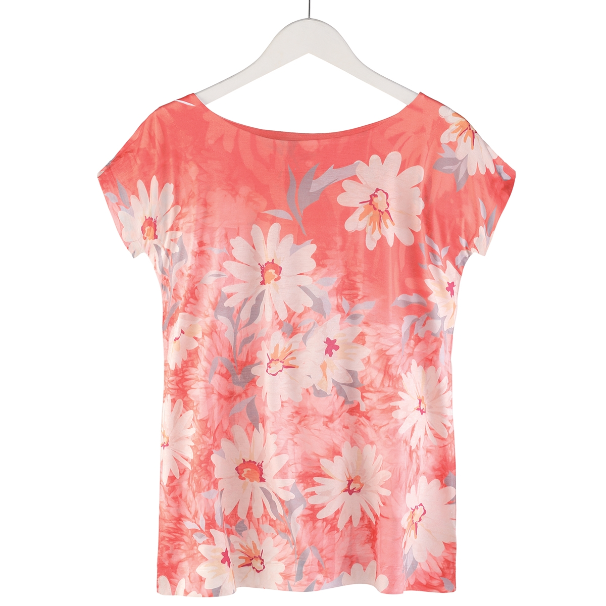 Coral Daisies Tee