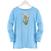 Daffodils and Bee Applique Tee