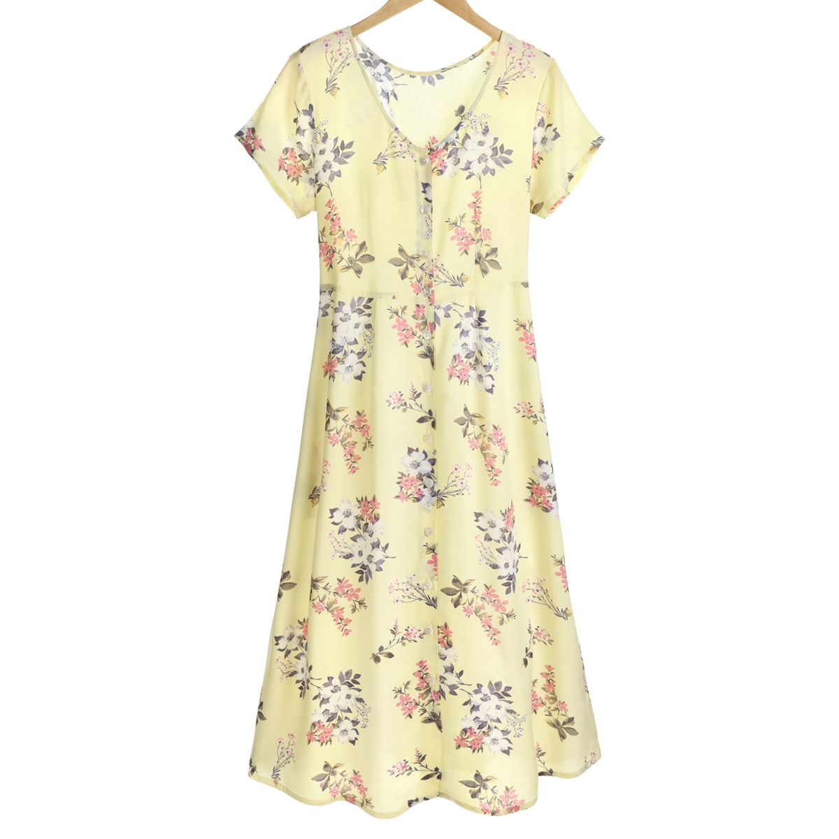 Yellow Garden Floral Dress