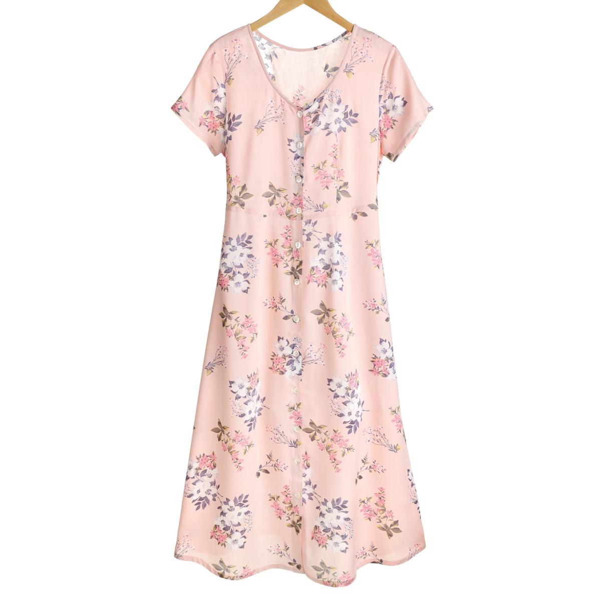 Pink Garden Floral Dress
