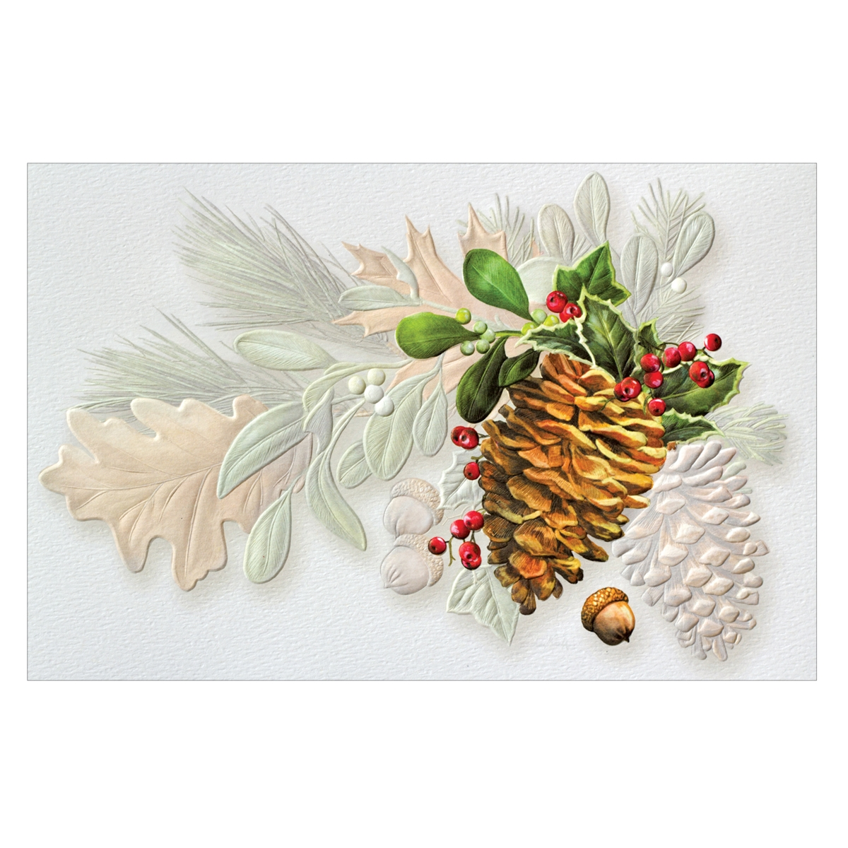 Pine and Acorns Card