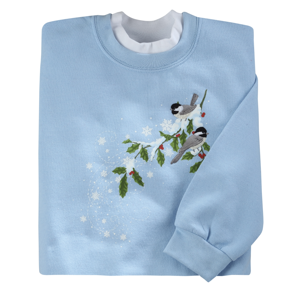 Chilly Chicks & Holly Pullover