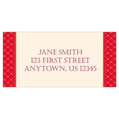 Elegant Sleigh Address Label