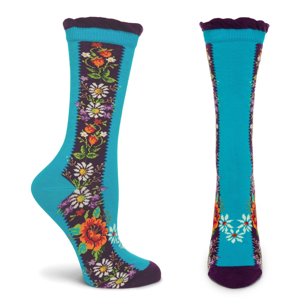 Brilliant Blooms Socks