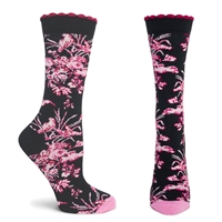 Pink Passion Floral Socks