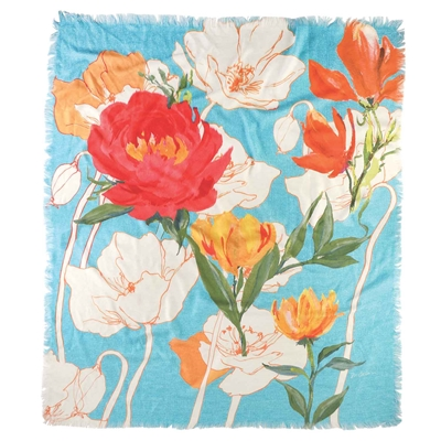 Peony and Poppies Throw