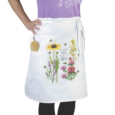 Plant These for the Bees Bistro Apron