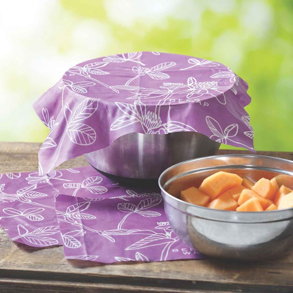 Clover Print Reusable Food Wraps