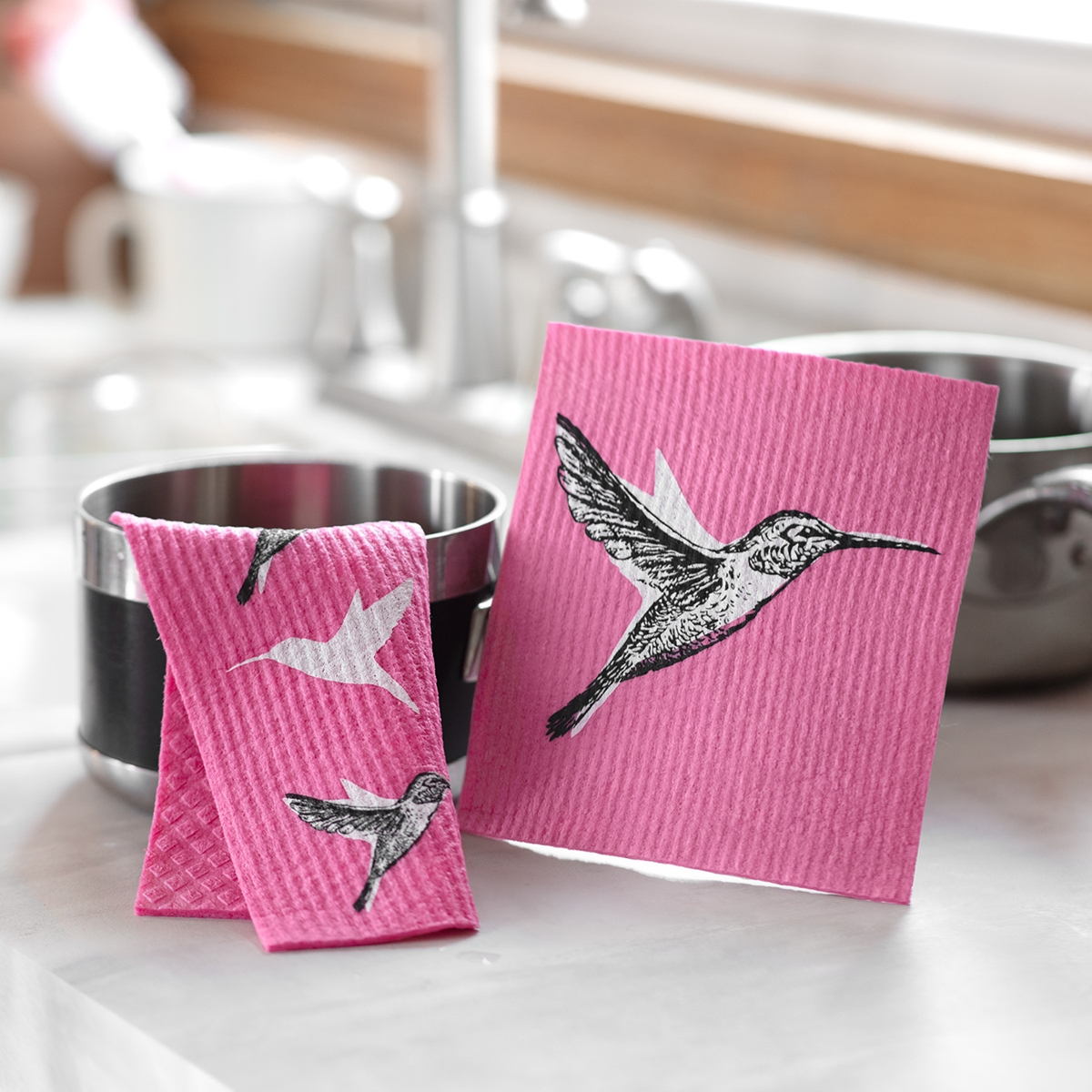 Hummingbird Swedish Dish Cloth Set