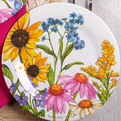 Wildflowers Salad Plate Set