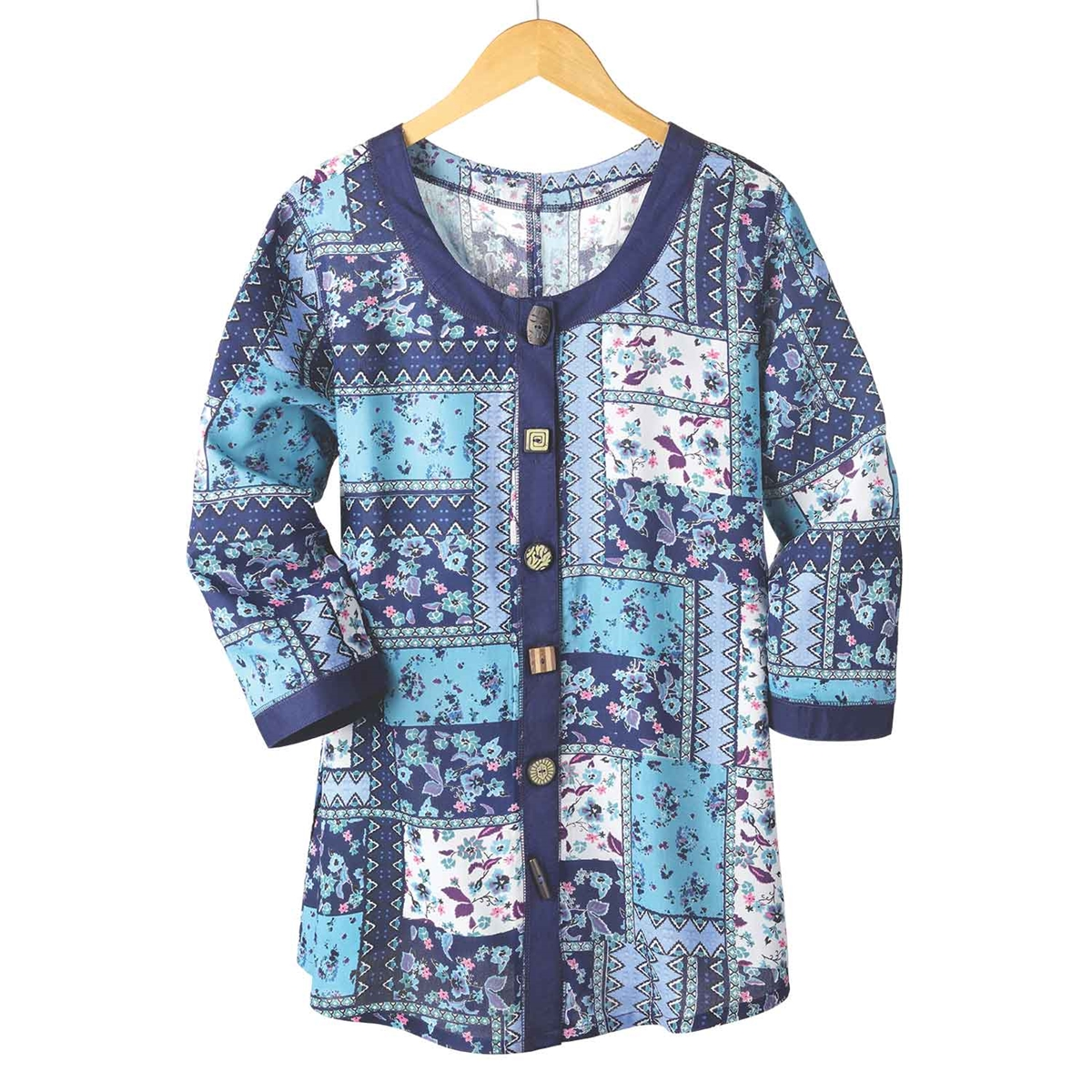 Patchwork Floral Tunic