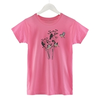 Chickadees and Floral Shadows Tee