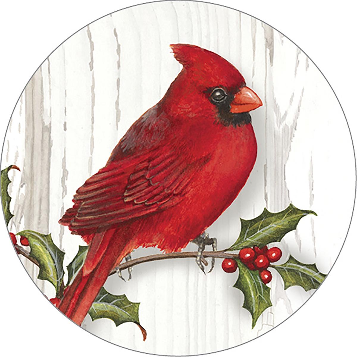 Merry Christmas Cardinal Envelope Seal