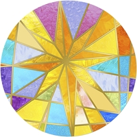 Stained Glass Star Envelope Seal