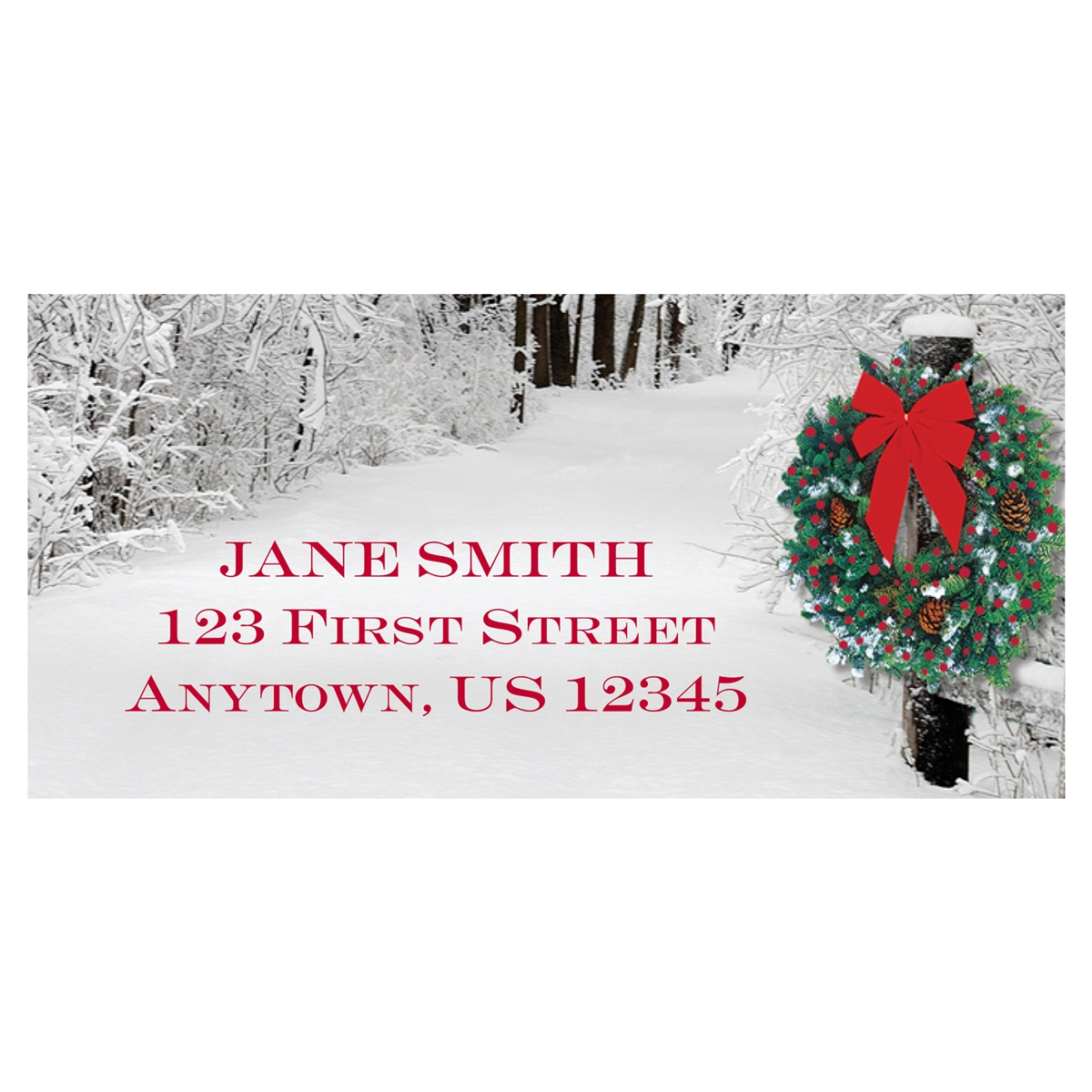 Snowy Lane Address Label