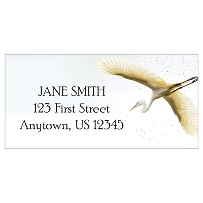 Great Egret Address Label