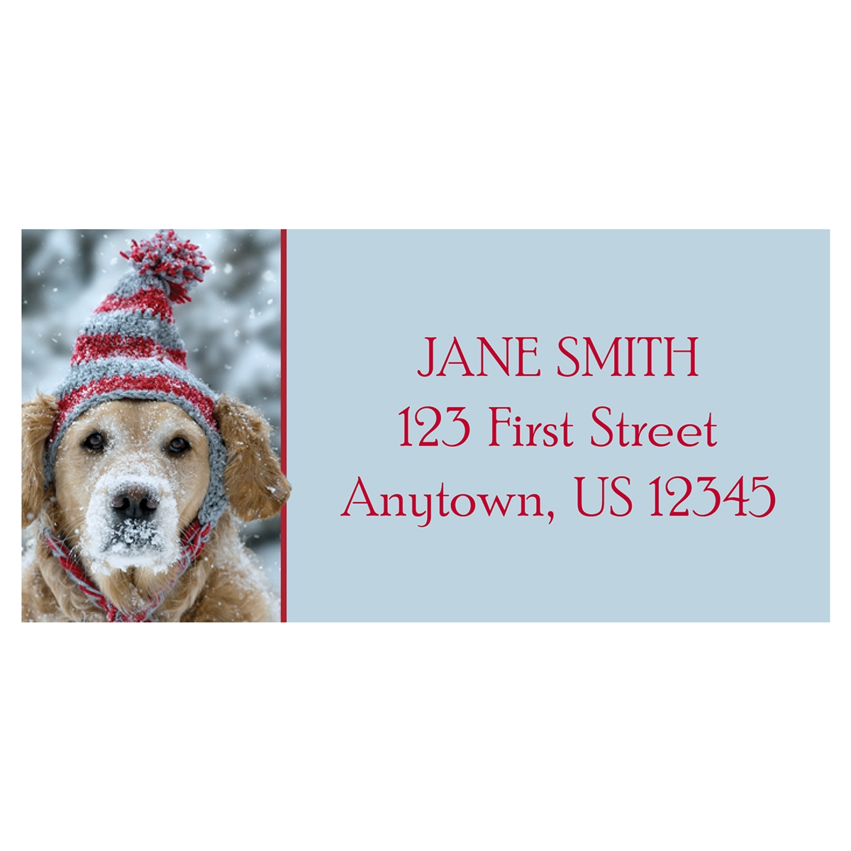 Frosty Retriever Address Label