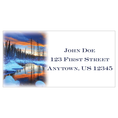 Hazel Creek Sunset Address Label