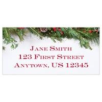 Festive Garland Address Label