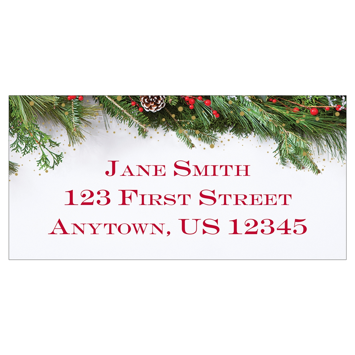 Festive Garland Address Label