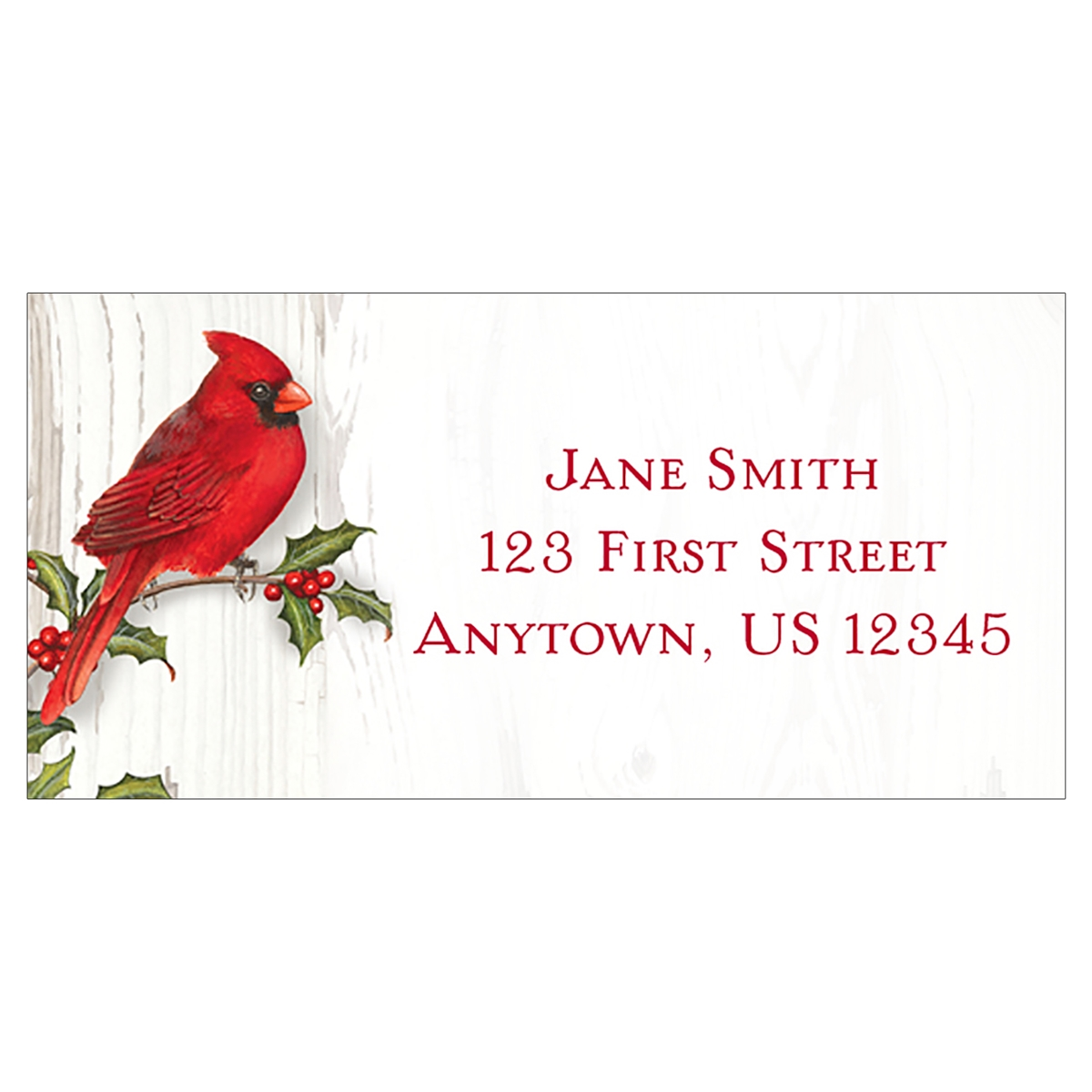 Merry Christmas Cardinal Address Label