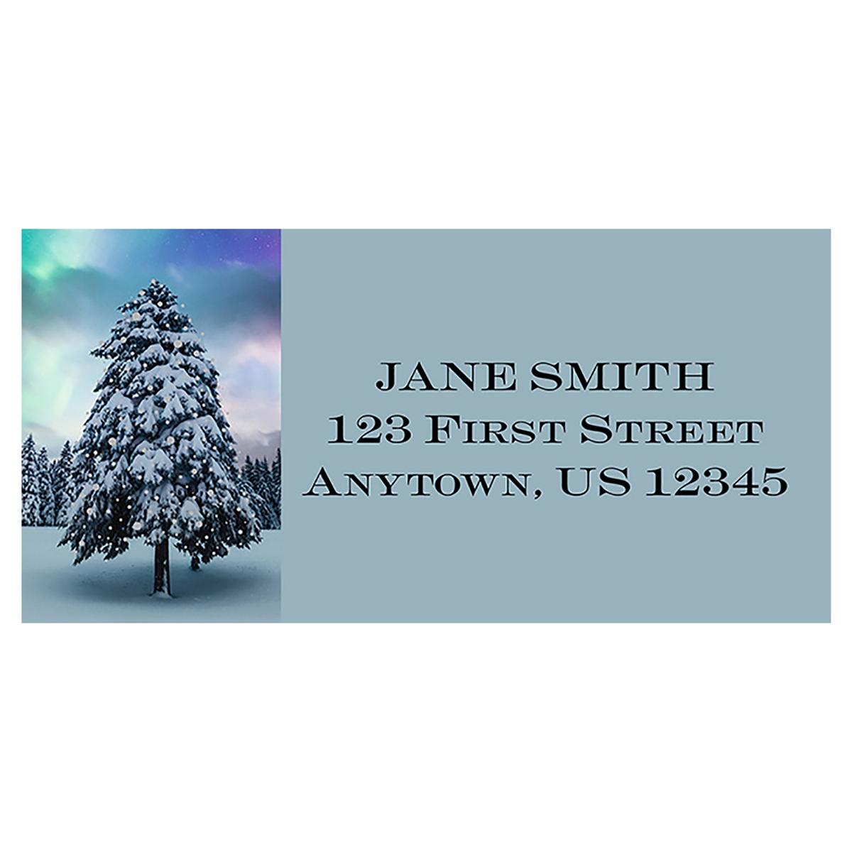 Northern Lights Tree Address Label