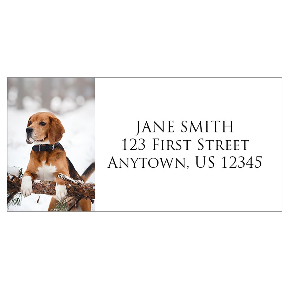 Holiday Beagle Address Label