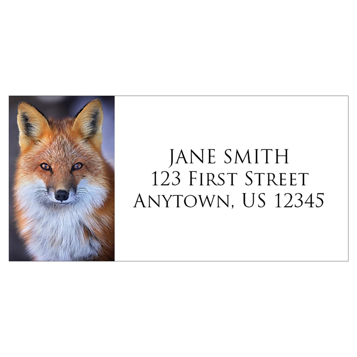 Red Fox Address Label