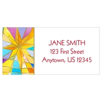 Stained Glass Star Address Label