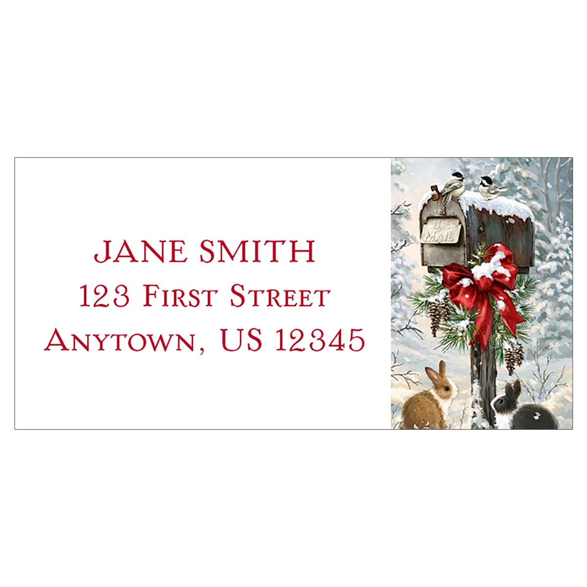 Christmas Tidings Address Label