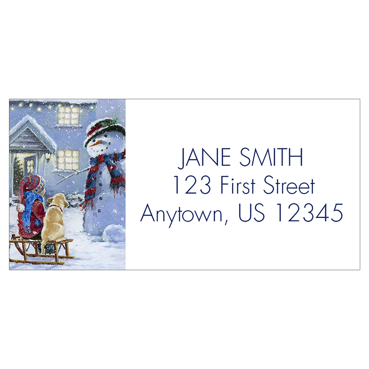 Winter Friends Address Label