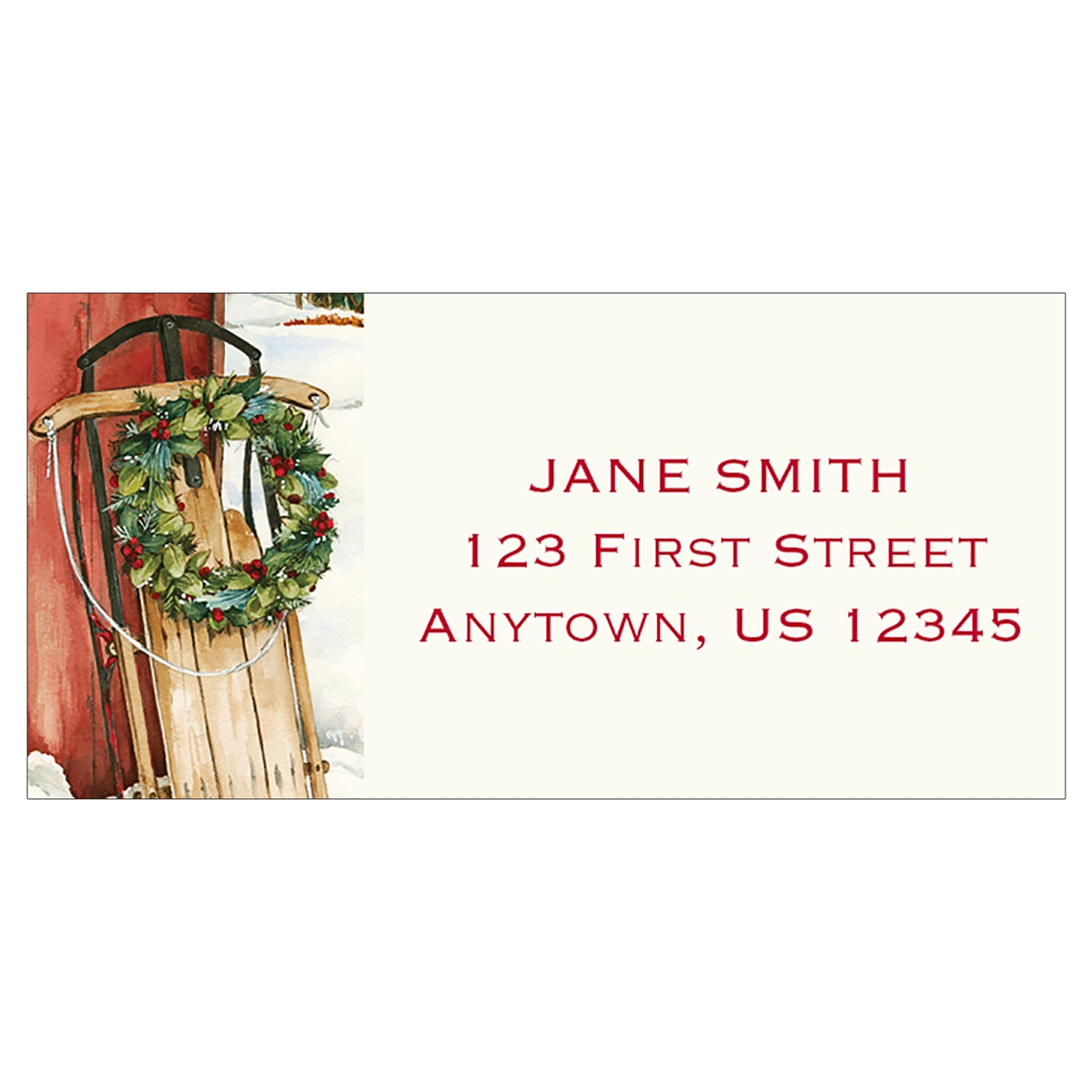 Holiday Sleigh Address Label