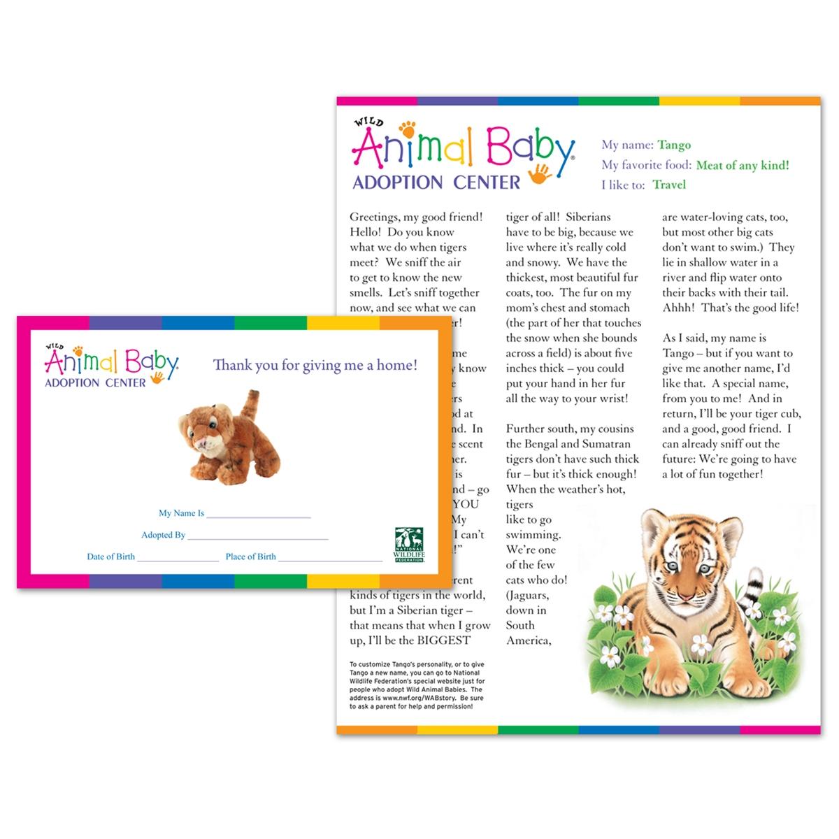 Adopt a Baby Tiger