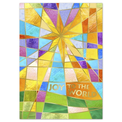 Stained Glass Star Card