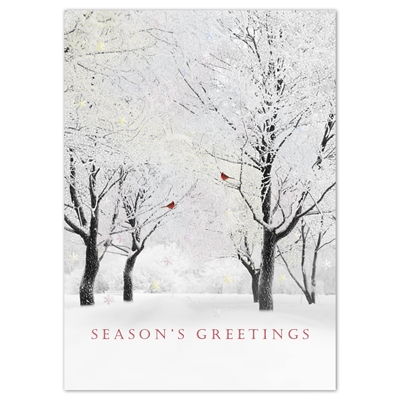 Shimmering Trees Card