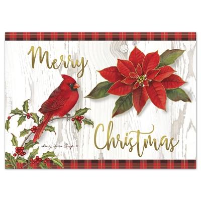 Merry Christmas Cardinal Card