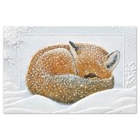 Napping Fox Holiday Cards