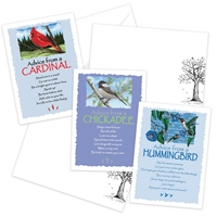 Advice from the Cardinal, Chickadee and Hummingbird Greeting Cards