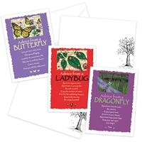 Advice from the Butterfly, Dragonfly and Ladybug Greeting Cards