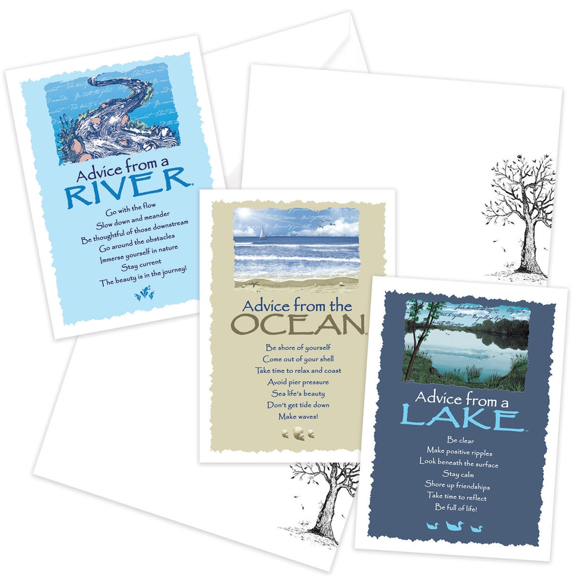 Advice from the Lake, Ocean and River Greeting Cards