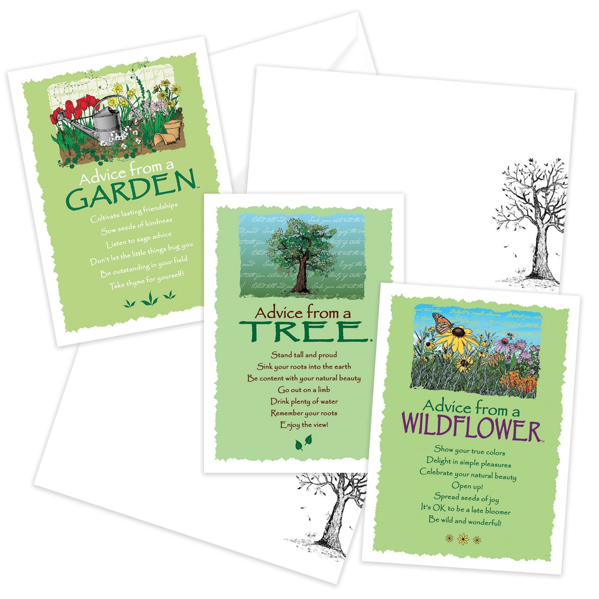 Advice from the Wildflower, Garden and Tree Greeting Cards